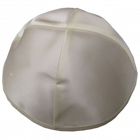 Cream Satin Kippah