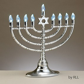 LED Menorah - silver