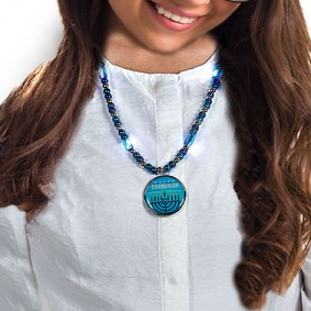 Light up Chanukah Necklace