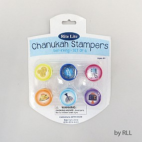 Set of 6 Chanukah Stampers