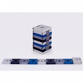 Belt Travel Menorah - black, blue and grey