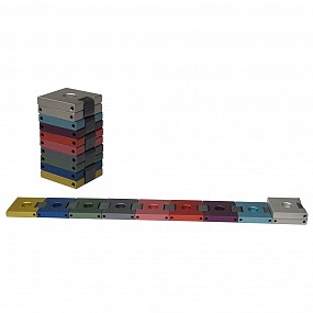 Belt Travel Menorah - colourful