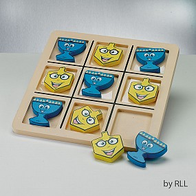 Chanukah Wood Tic Tac Toe Game Deluxe Style