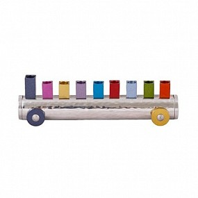 Emanuel Train Menorah - multicolor