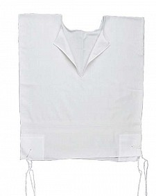 Mens V-neck Tzitzit - 100% cotton