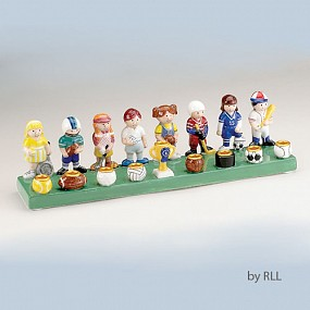 Ceramic Sports Menorah