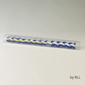 Round Blue/White Havdalah Candle