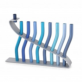 Emanuel Sticks Menorah - Blue