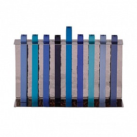 Chanuka Menorah  Long Branches Blue