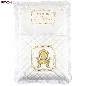 Satin Brit Pillow with Golden Chair