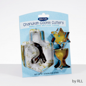 Chanukah Cookie Cutters (stainless steel)