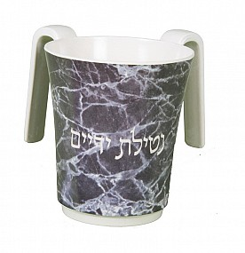 Melamine Washing Cup with dark marble motif