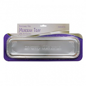 Foil Menorah Tray long