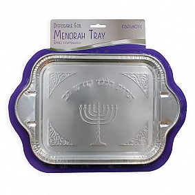 Foil Menorah Tray small