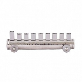 Emanuel Train Menorah - silver