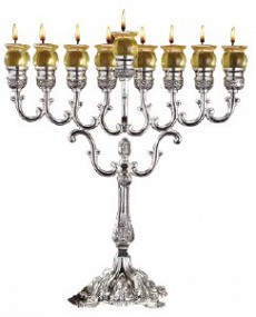 Silver  Plated Menorah 41cm high