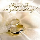 Mazel Tov on your Wedding  (rings)