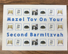Mazel Tov on your Second Barmitzvah