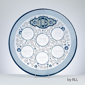 Glass Seder plate