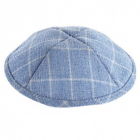 Blue coloured Kippah with squares