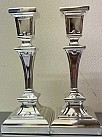 Square Candle sticks (silver plated)