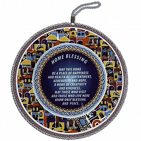 Round  English Home Blessing Ceramic
