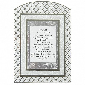 English Home Blessing - Glass Frame with round top