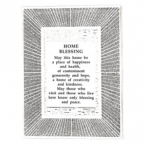 English Home Blessing - Glass Frame with beams