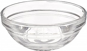 Glass bowls for seder plate x6