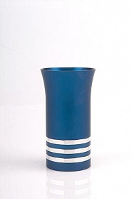 Agayof Kiddush Cup - blue - with rings