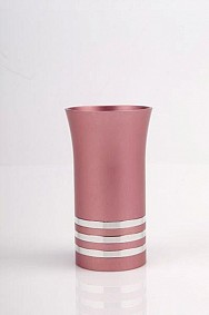 Agayof Kiddush Cup - pink - with rings