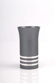 Agayof Kiddush Cup - grey - with rings