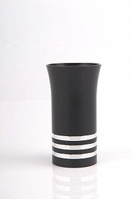 Agayof Kiddush Cup - black - with rings