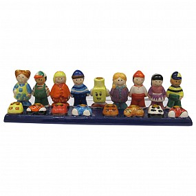 Ceramic Friends Menorah