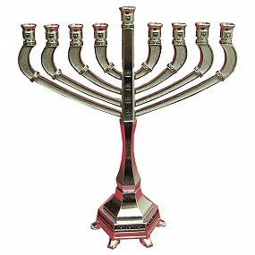 Nickel Menorah - Traditional