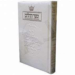 Tehillim / Psalms - Full Size White Leather