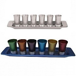 Rectangle Kiddush Set