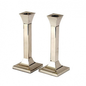 Silver Plated Candlesticks - Square - 20cm