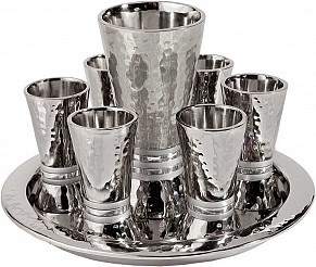 Emanuel Cone Shaped Kiddush Set