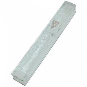 Glass Mezuzah Case - Frosted
