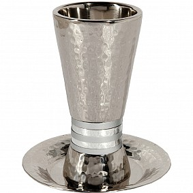 Emanuel Cone Shape Kiddush Cup with Plate
