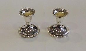 Candlesticks with Pearl Ornament Design
