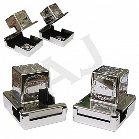 Silver Coloured Tefilin Boxes